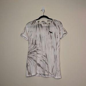 PINK Marble Tie Dye Tee Shirt
